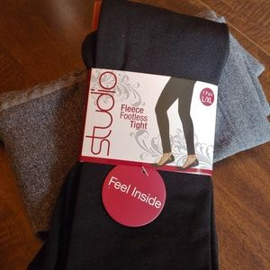2 pair fleece lined tights